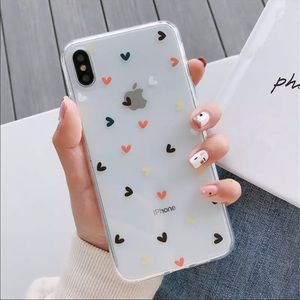 Clear IPhone 11 Pro Case with Hearts